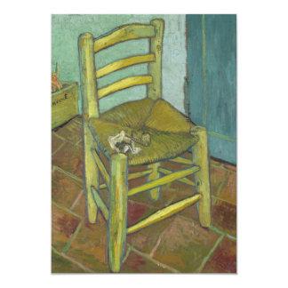 "Van Gogh's Chair by Vincent Van Gogh 5"" X 7"" Invitation Card"