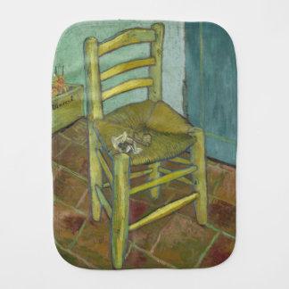 Van Gogh's Chair by Vincent Van Gogh Baby Burp Cloth