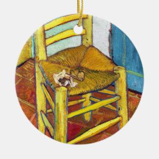 Van Gogh's Chair  Vincent van Gogh  fine art Ceramic Ornament