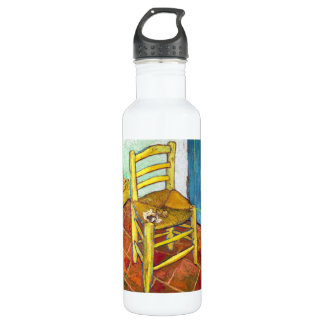 Van Gogh's Chair  Vincent van Gogh  fine art Water Bottle
