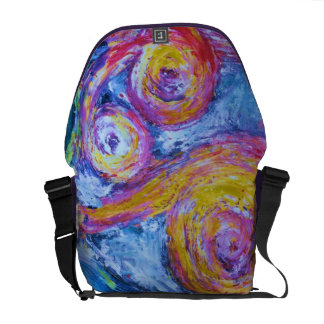 Van Gogh's Cotton Candy Dream - Pink & Yellow Commuter Bags