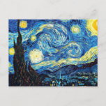 """Van Gogh's famous painting, Starry Night Postcard<br><div class=""""desc"""">Van Gogh's famous painting,  Starry Night postcard. Best seller!</div>"""