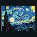 "Van Gogh's famous painting, Starry Night Postcard<br><div class=""desc"">Van Gogh's famous painting,  Starry Night postcard. Best seller!</div>"