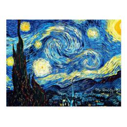 Van Gogh's famous painting, Starry Night Postcard