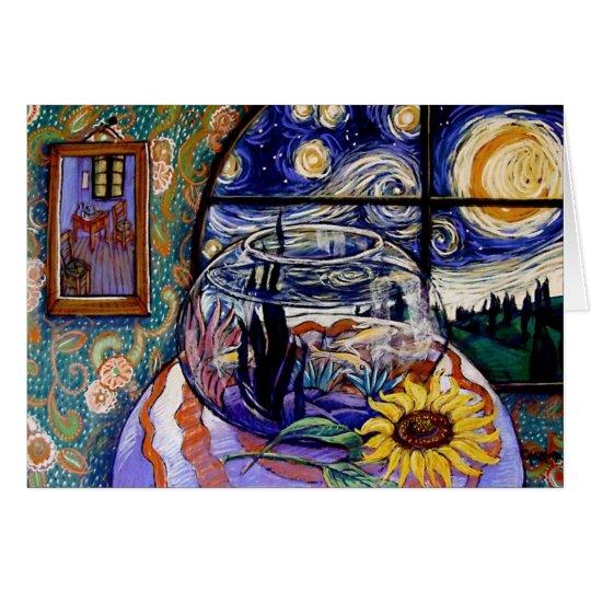 Van Gogh's Fishbowl Card