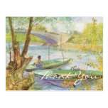Van Gogh's Fishing in Spring Post Cards