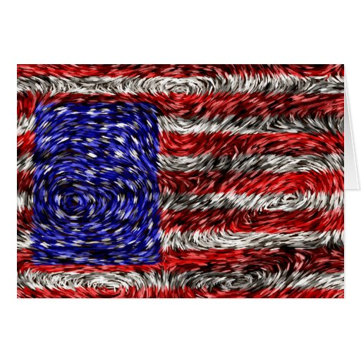 Van Gogh's Flag of the United States Card