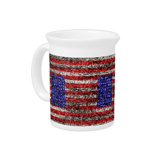 Van Gogh's Flag of the United States Drink Pitcher