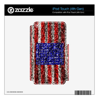 Van Gogh's Flag of the United States iPod Touch 4G Decal