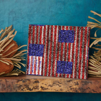 Van Gogh's Flag of the United States Plaque