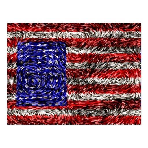 Van Gogh's Flag of the United States Postcard