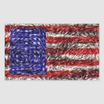 Van Gogh's Flag of the United States Rectangular Stickers