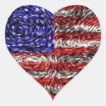 Van Gogh's Flag of the United States Sticker