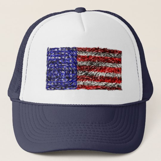 Van Gogh's Flag of the United States Trucker Hat