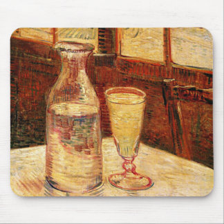 Van Gogh's 'Glass of Absinthe & a Carafe' Mousepad