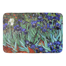 Van Goghs Irises Flowers Floral Garden Bath Mat at Zazzle