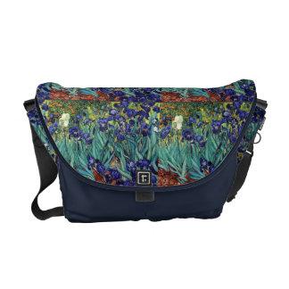 Van Goghs Irises Rickshaw Messenger Bag