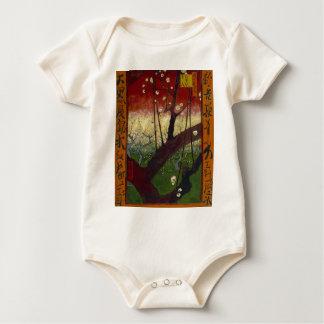 Van Gogh's Japonaiserie after Hiroshige Baby Bodysuit