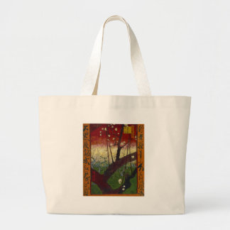 Van Gogh's Japonaiserie after Hiroshige Large Tote Bag