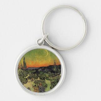 Van Gogh's 'Landscape w/ Couple Walking' Keychain