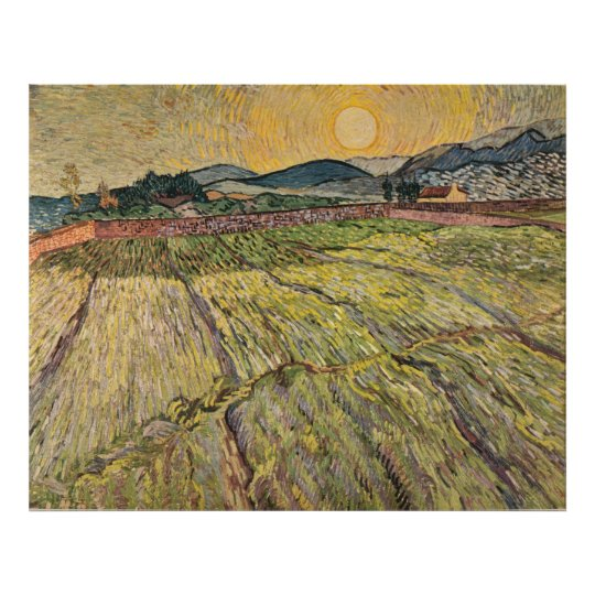 Van Gogh's Landscape with Ploughed Fields (1899) Poster