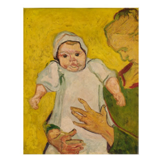 """Van Gogh's """"Mother Roulin and Her Baby"""" (1888) Poster"""