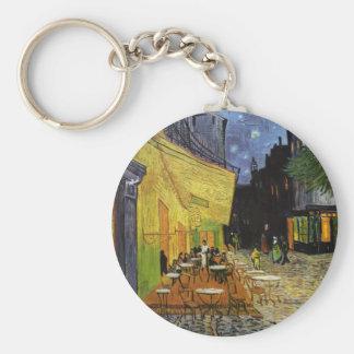 Van Gogh's Night Cafe Basic Round Button Keychain