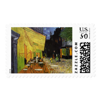 Van Gogh's Night Cafe Postage