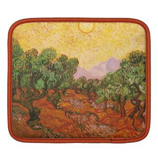 Van Gogh's Olive Trees with Yellow Sky & Sun iPad Sleeve
