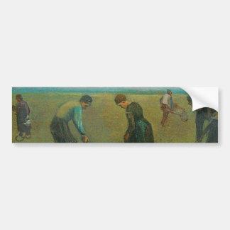 Van Gogh's Peasants or Farmers Planting Potatoes Bumper Sticker