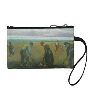 Van Gogh's Peasants or Farmers Planting Potatoes Coin Purse