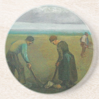 Van Gogh's Peasants or Farmers Planting Potatoes Drink Coaster