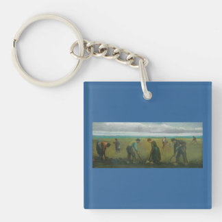 Van Gogh's Peasants or Farmers Planting Potatoes Acrylic Key Chains