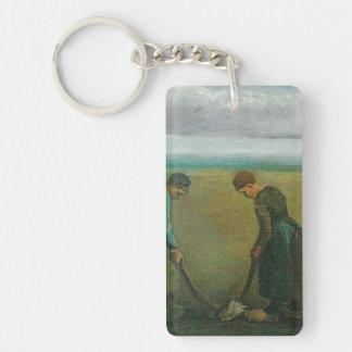 Van Gogh's Peasants or Farmers Planting Potatoes Acrylic Key Chain