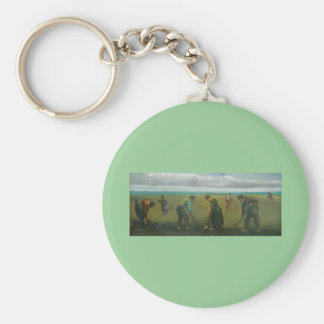 Van Gogh's Peasants or Farmers Planting Potatoes Keychains