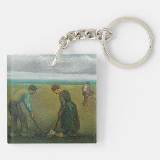 Van Gogh's Peasants or Farmers Planting Potatoes Acrylic Keychains