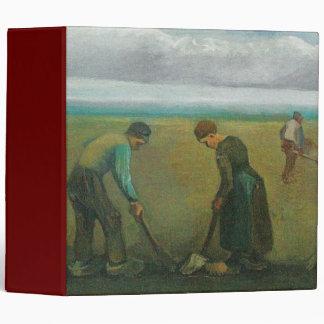 Van Gogh's Peasants or Farmers Planting Potatoes Vinyl Binder