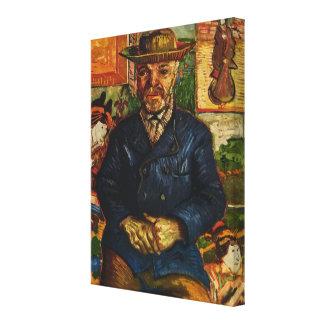"""Van Gogh's """"Portrait of Père Tanguy"""" (1887) Canvas Print"""