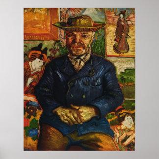"""Van Gogh's """"Portrait of Père Tanguy"""" (1887) Poster"""