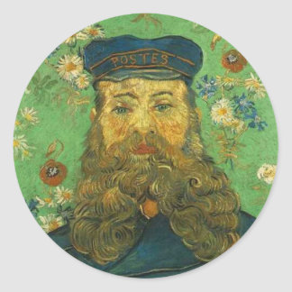 Van Gogh's Postman Classic Round Sticker