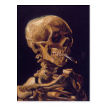 Van Gogh's 'Skull w/  a Burning Cigarette' Card Postcard