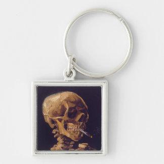 Van Gogh's 'Skull w/ a Burning Cigarette' Keychain