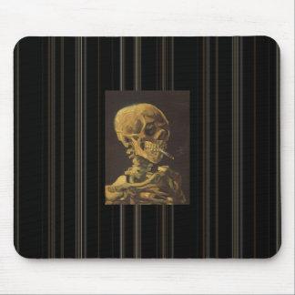"Van Gogh's ""Smoking Skeleton"" Mouse Pad"