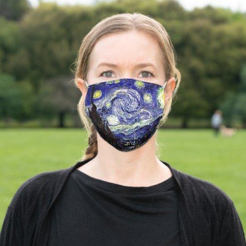 Van Goghs Starry Night 1889 Cloth Face Mask
