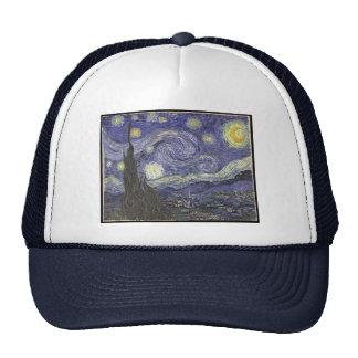 Van Gogh's Starry Night Classic Painting Trucker Hat