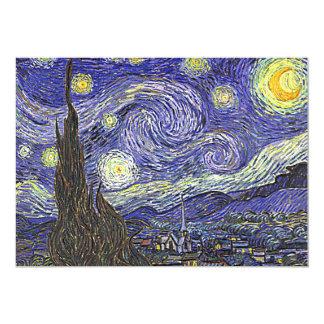 Van Gogh's 'Starry Night' Invitation