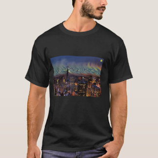 Van Gogh's Starry Night/New York Skyline T-Shirt