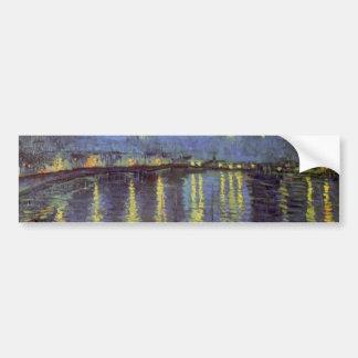 Van Gogh's Starry Night Painting Car Bumper Sticker