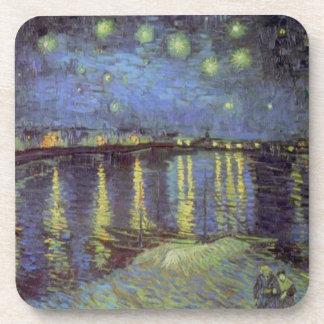 Van Gogh's Starry Night Painting Drink Coasters