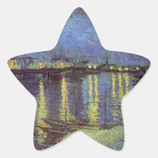 Van Gogh's Starry Night Painting Star Sticker
